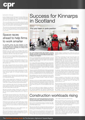 Space Solutions coverage secured by Holyrood Partnership PR in Scotland