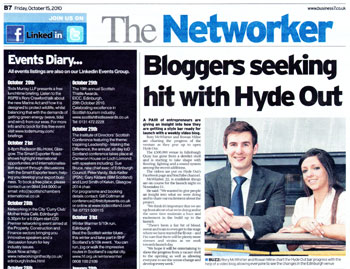 Hyde Out coverage secured by Holyrood Partnership PR in Scotland