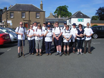 Charity walkers supported by Panton McLeod