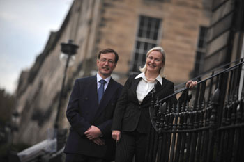 Gibson Kerr partners Scott and Fiona Rasmusen are supported by Holyrood Partnership PR in Scotland