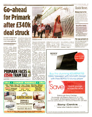 Primark coverage secured by Holyrood Partnership PR in Scotland