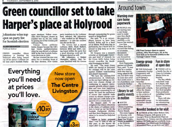 Gibson Kerr coverage secured by Holyrood PR PR in Scotland
