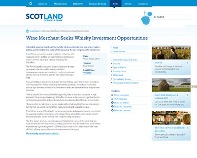 holyrood pr exel wines water of life scotland food and drink