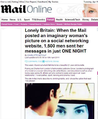 Daily Mail article on lonely Britain