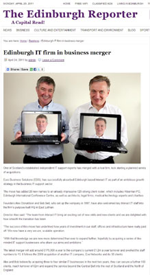 Euro Business Solutions in the Edinburgh Reporter
