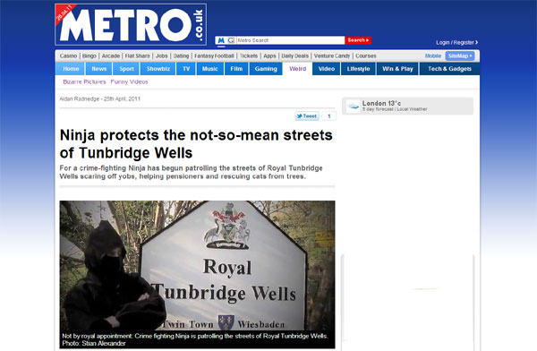 holyrood pr hp sauce blog metro ninja style neighbourhood watch