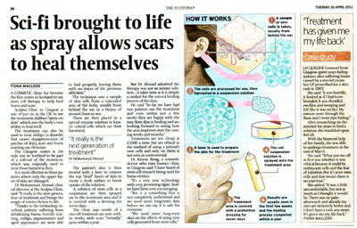 Sculpta Clinic PR Scotland in The Scotsman
