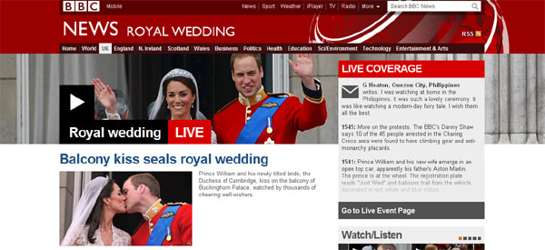 Great PR in Britain for the Royal Wedding coverage