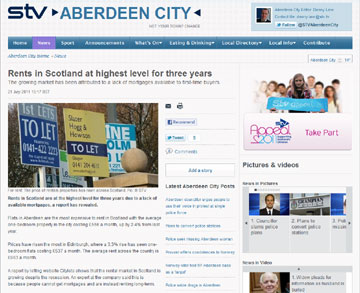 Citylets coverage secured by Holyrood PR PR in Scotland