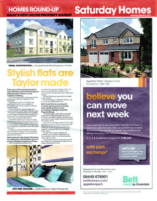 g1 property daily record saturday magazine property section