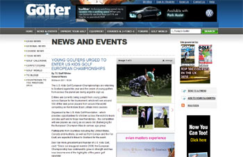 U.S. Kids Golf European Championship coverage secured by Holyrood Partnership PR in Scotland