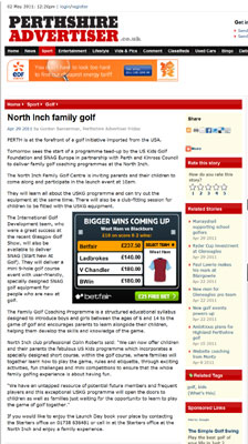 U.S.Kids Golf Perthshire Advertiser
