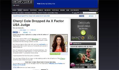 Cheryl Cole Leaves US X-Factor