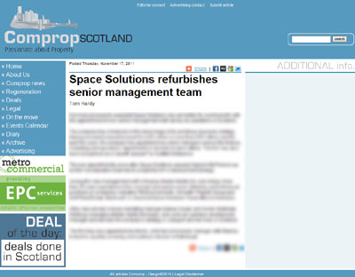 Space Solutions PR Scotland