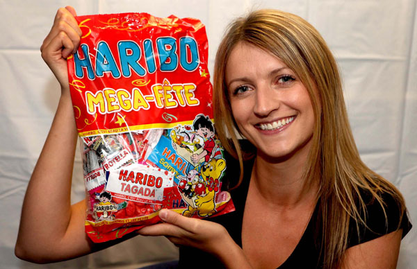 Haribo addict Pamela McDade of Holryood PR agency in Scotland