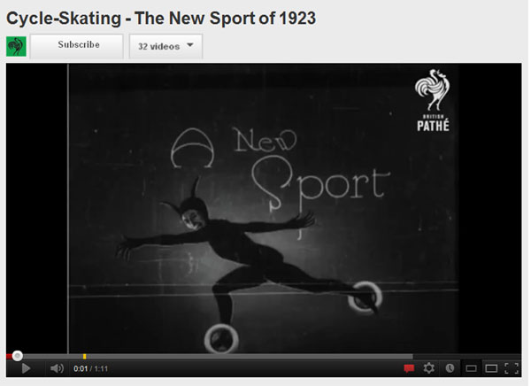 Cycle Skating 1923 Youtube
