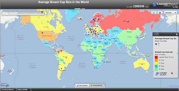 Cup Size Map