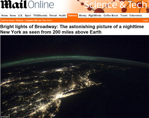 Dailymail bright lights of Broadway
