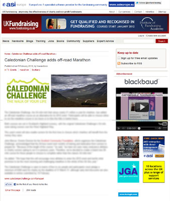 Fundraising UK ltd Caledonian Challenge