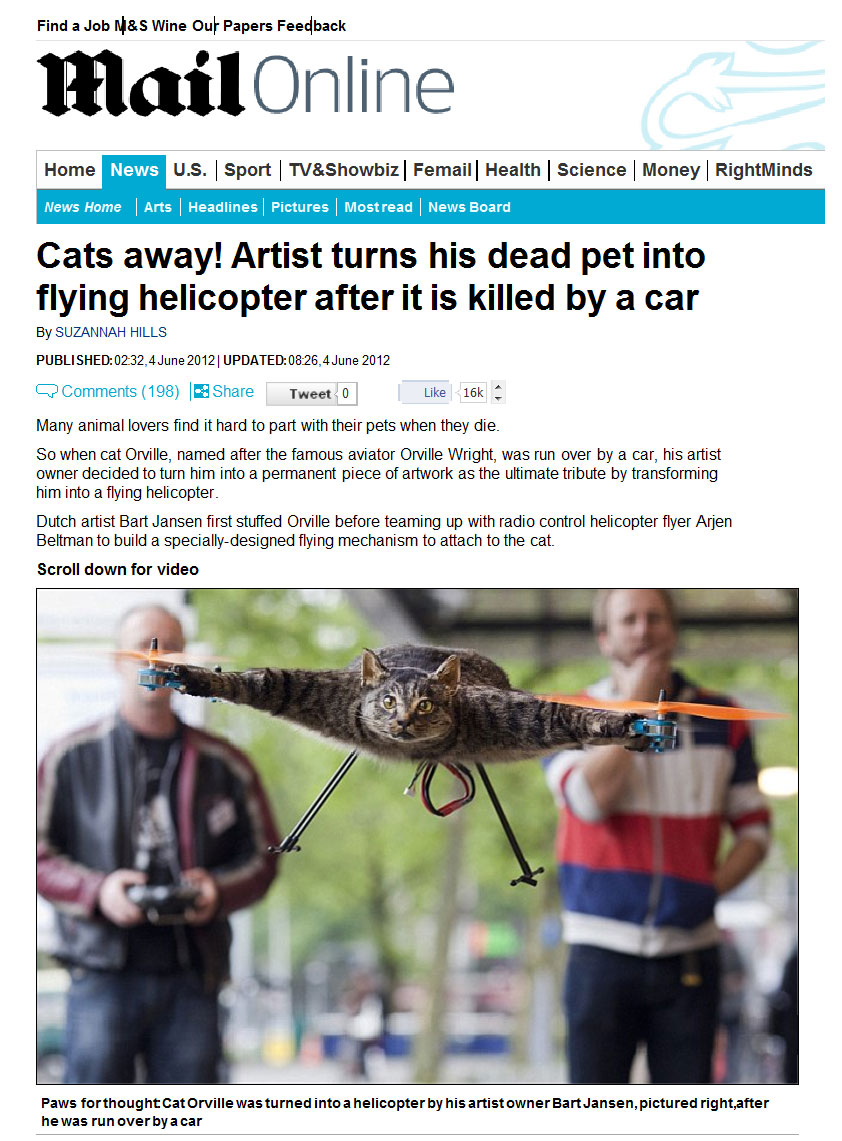 Cat Helicopter daily mail