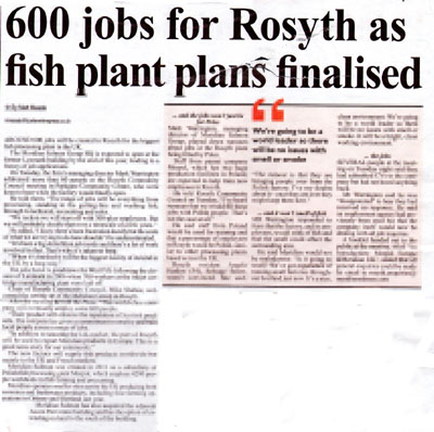 Fish plant to hook 600 for jobs in rosyth holyrood pr Fish for jobs