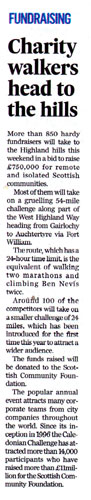 Caledonian Challenge Press and Journal