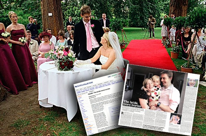Hair and beauty PR success for blind bride