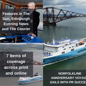Scottish PR photography DFDS Norfolkline anniversary voyage with Dunkirk vet