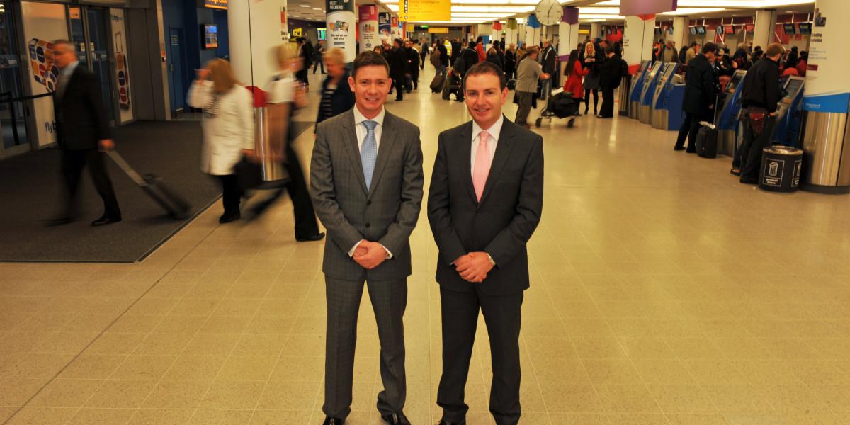Scottish PR photography EQ Travel Management in Edinburgh Airport