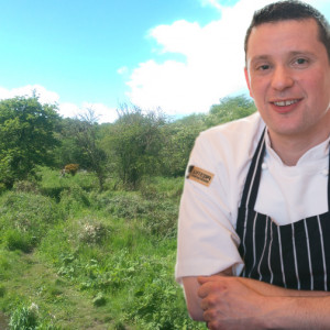 Food and drink public relatiions experts Holyrood PR told how Sodexo chef tom Beauchamp forages outdoors for ingredients
