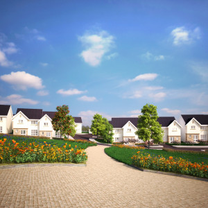 CGI of the proposed CALA Homes development at Riccarton Mains Road, Currie, Edinburgh