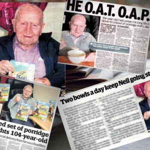 Neil McNeil reveals the secret to living a long life in a Social Care PR story