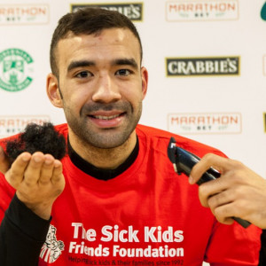 Liam Fontaine Charity beard shave for Sick Kids Friends Foundation