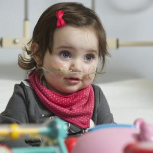 Charity PR photography of child in Edinburgh's sick kids hospital