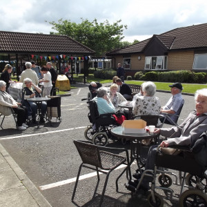 Bupa care home summer fete being enjoyed in the sun
