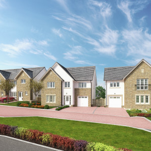 Straiton Street at new CALA homes development in Midlothian