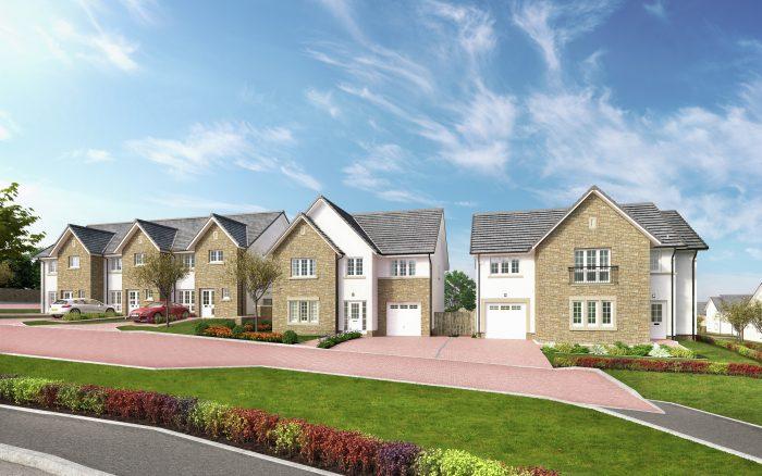 Straiton Street at new CALA homes development in Midlothian