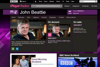 John Beattie on Radio Scotland