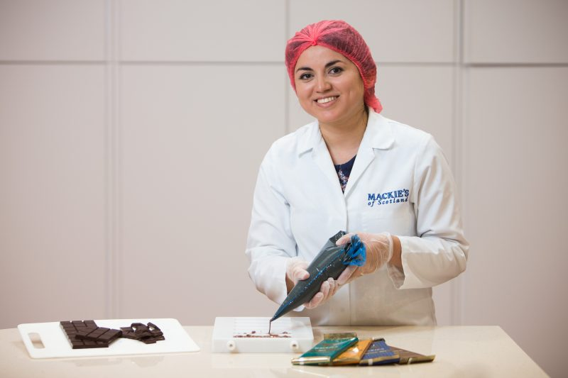 Mackie's Chocolate Graduate, Natalia Mansilla. Consumer PR Scotland Aberdeenshire