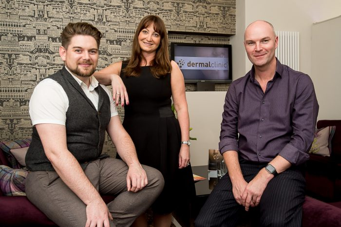 The Dermal Clinic Staff who have teamed up with Changing Faces thanks to Public Relations in Edinburgh