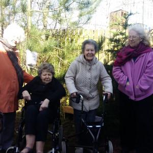 Residents pose for Edinburgh PR story