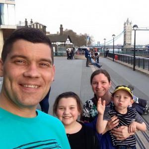 LTOR Scott, Isla, Karen, Aaron Purvis for Charity PR