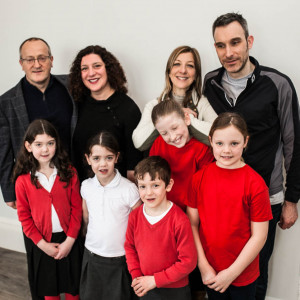 Peter Gillet, Gilly Herbert, Zoe Stuart and Mr Stuart. Three children at the front are Gilly Herberts children, Megan Stuart and Rosie Dick picture to be used for Charity PR