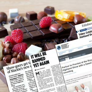A spread of coverage for Mackie's thanks to Food and Drink PR