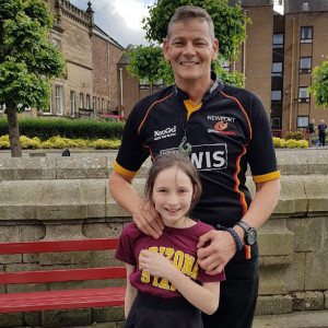 Picture of Emma and her Dad to be used by for Charity PR