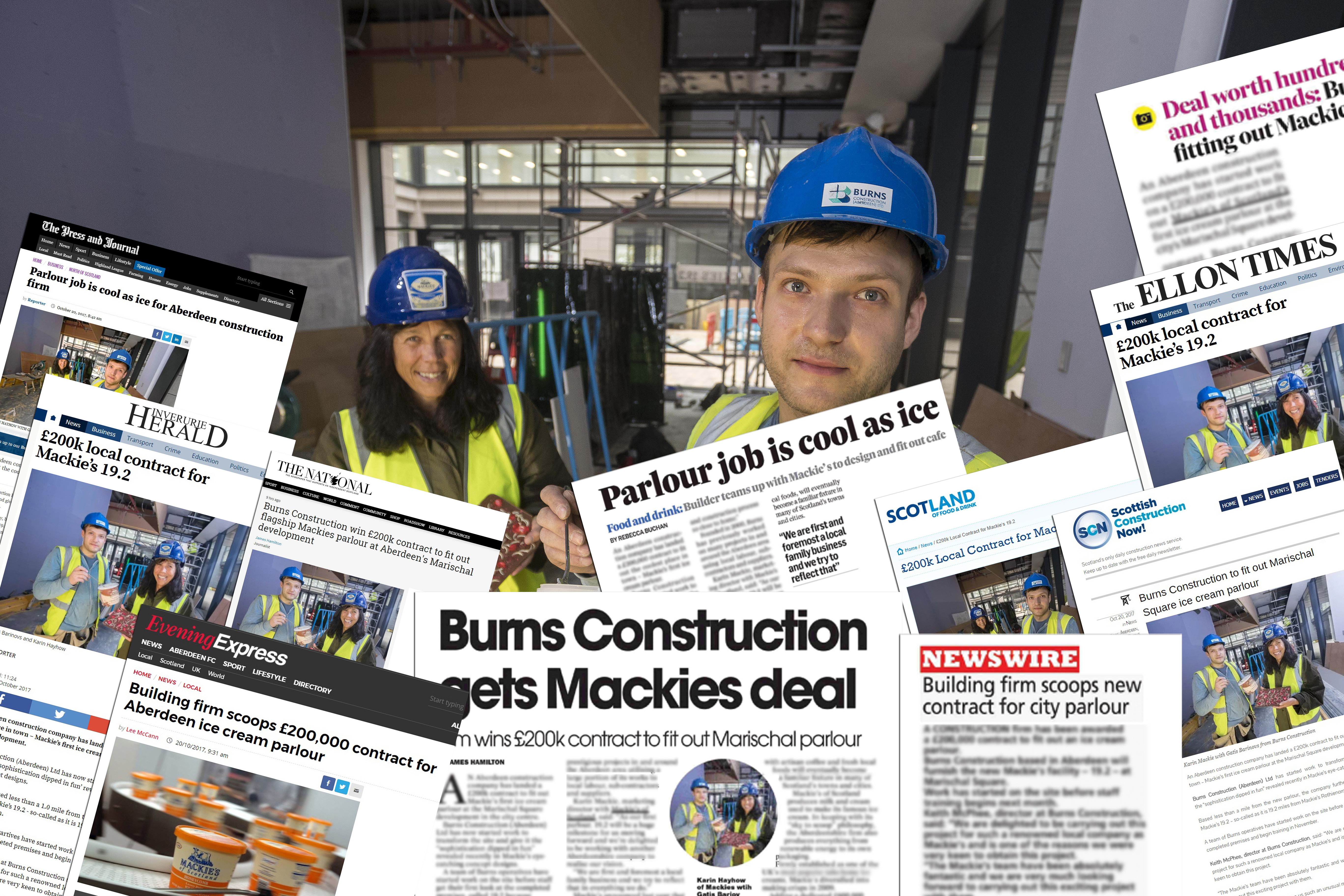 A spread of success for Mackie's construction contract thanks to Food and Drink PR