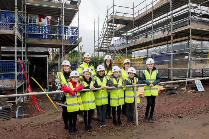 />SIX schoolchildren from a Midlothian school have visited a busy building site to learn more about construction – as well as important health and safety.</strong></p> <p>The P6 and P7 pupils from Lasswade Primary School in Bonnyrigg took the opportunity to visit the nearby Eagle's Green development <a href=