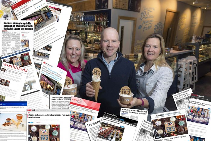 food and drink PR experts gain great coverage for Mackie's parlour launch