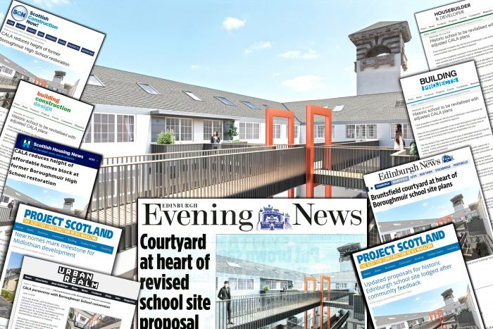 School's out and media coverage is in at Boroughmuir | Edinburgh PR Agency | CALA Homes