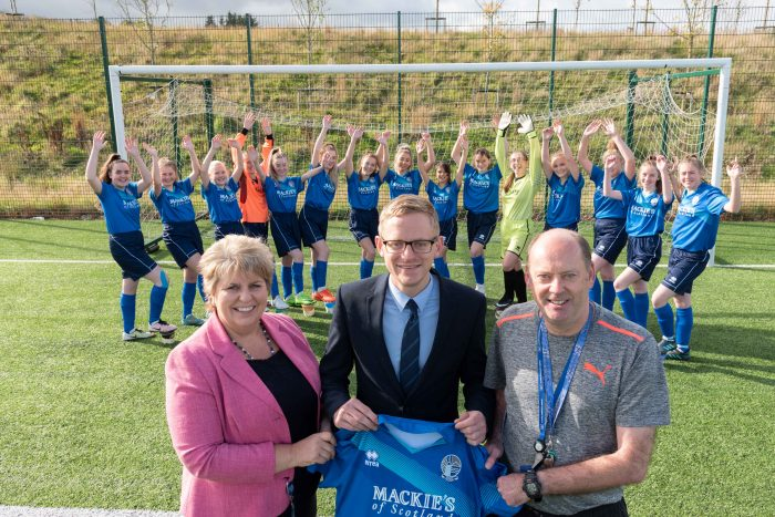 Alford Academy Women's Football Team strips provided by Mackie's of Scotland - Consumer PR story